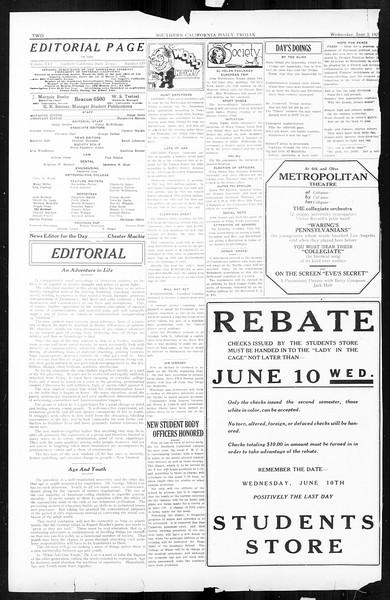 Daily Trojan, Vol. 16, No. 119, June 03, 1925