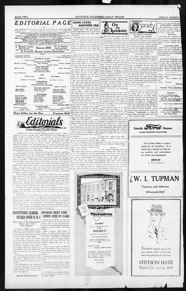 Daily Trojan, Vol. 16, No. 77, March 27, 1925