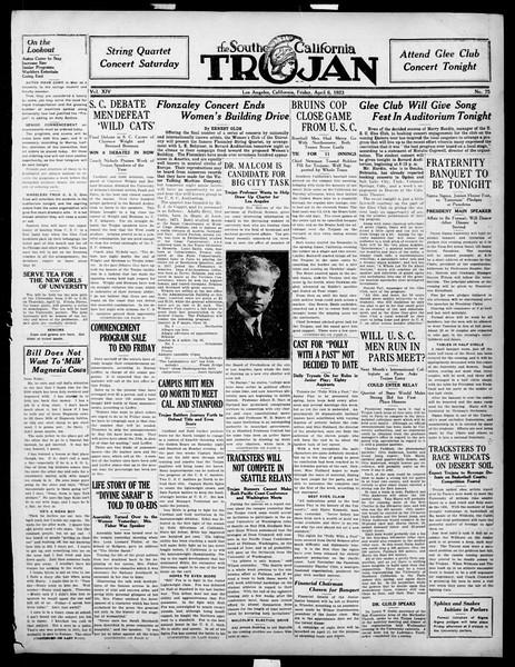 The Southern California Trojan, Vol. 14, No. 75, April 06, 1923