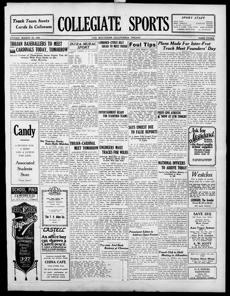 The Southern California Trojan, Vol. 15, No. 68, March 28, 1924