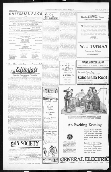 Daily Trojan, Vol. 16, No. 63, March 06, 1925