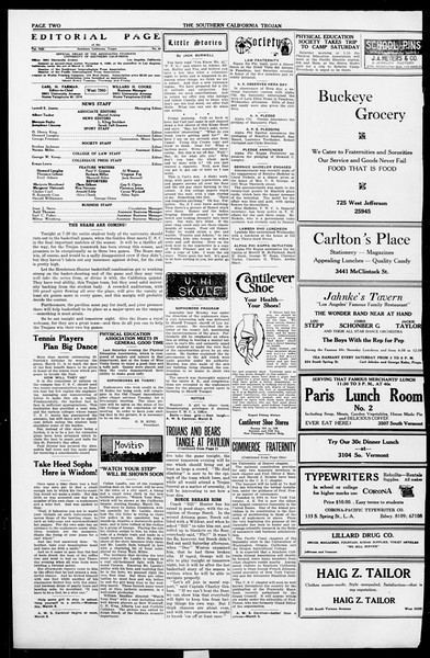 The Southern California Trojan, Vol. 13, No. 49, March 03, 1922