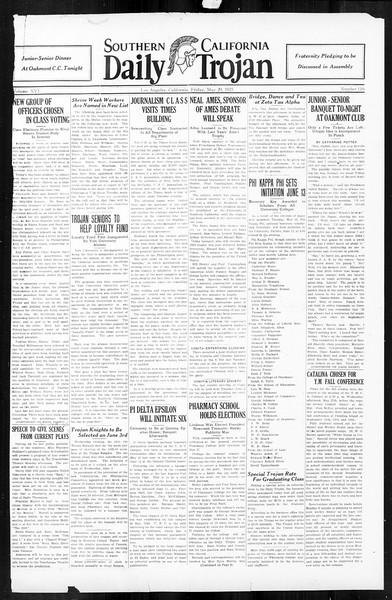 Daily Trojan, Vol. 16, No. 116, May 29, 1925