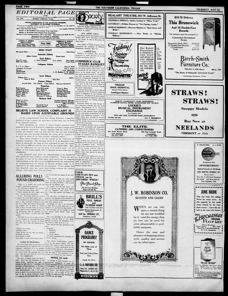 The Southern California Trojan, Vol. 14, No. 95, May 24, 1923