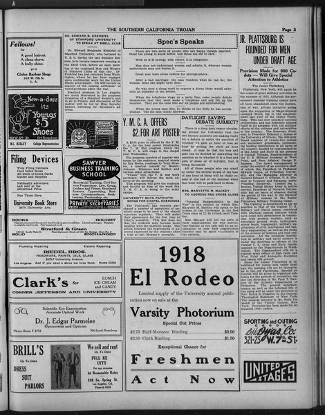 The Southern California Trojan, Vol. 9, No. 36, March 22, 1918
