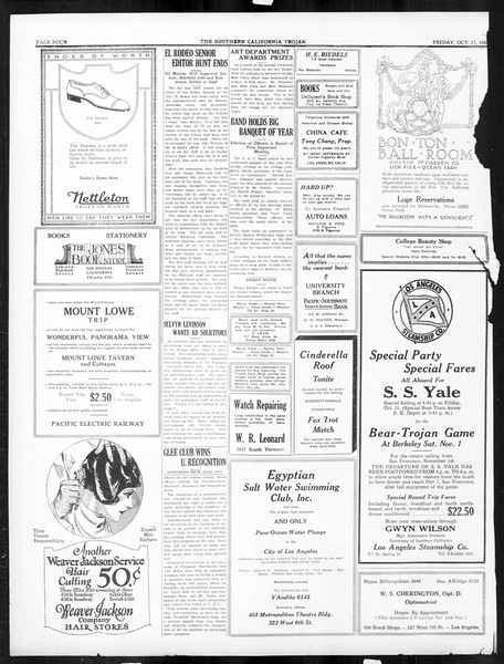 The Southern California Trojan, Vol. 16, No. 13, October 17, 1924