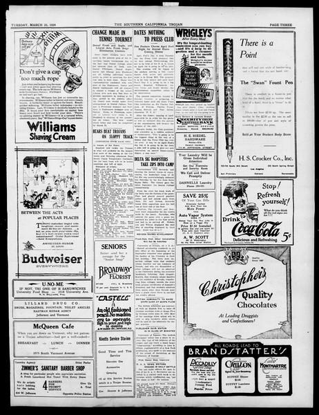 The Southern California Trojan, Vol. 15, No. 66, March 25, 1924