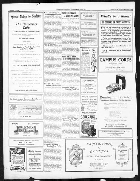 The Southern California Trojan, Vol. 16, No. 2, September 23, 1924