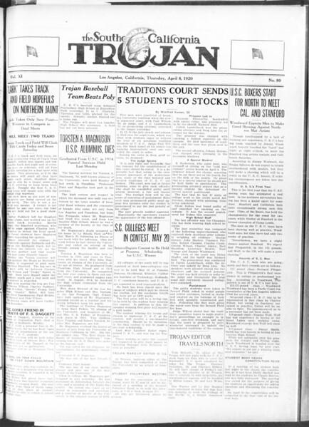 The Southern California Trojan, Vol. 11, No. 80, April 08, 1920