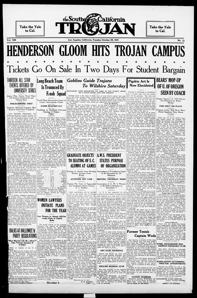 The Southern California Trojan, Vol. 13, No. 13, October 25, 1921