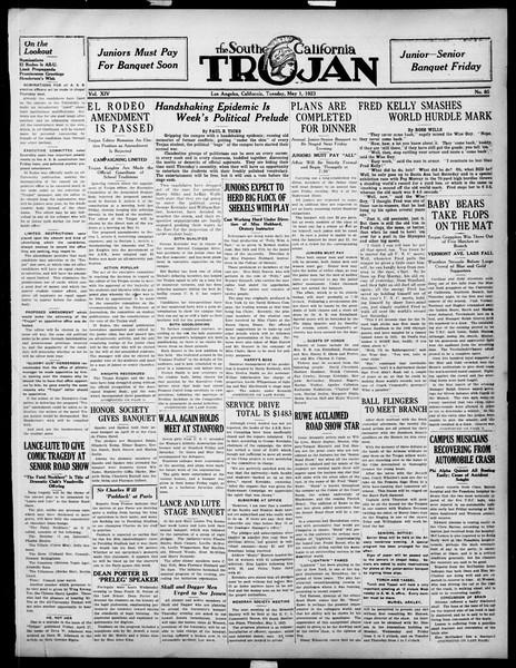 The Southern California Trojan, Vol. 14, No. 85, May 01, 1923