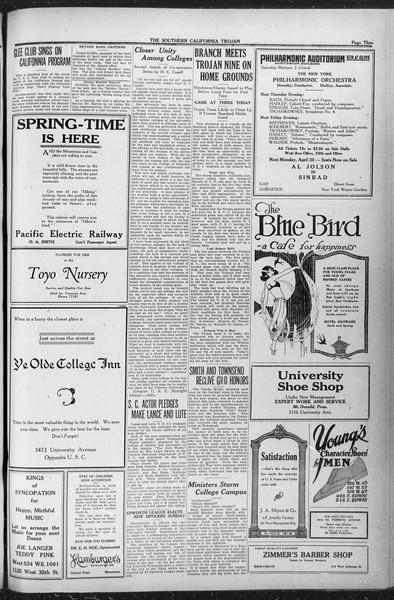 The Southern California Trojan, Vol. 12, No. 73, April 20, 1921