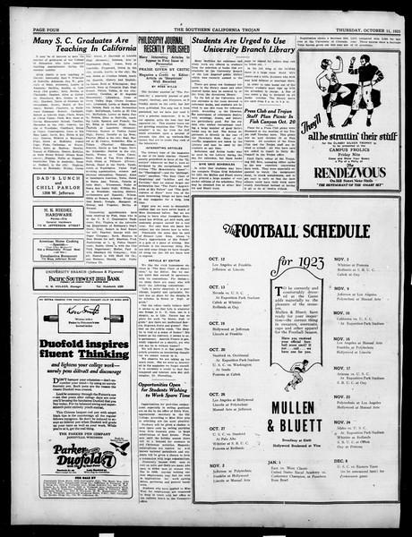 The Southern California Trojan, Vol. 15, No. 8, October 11, 1923