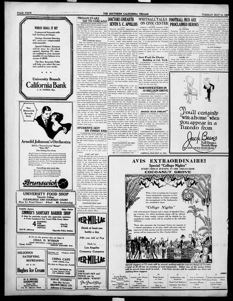 The Southern California Trojan, Vol. 14, No. 91, May 15, 1923