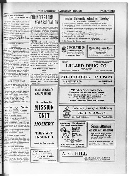 The Southern California Trojan, Vol. 11, No. 51, January 29, 1920