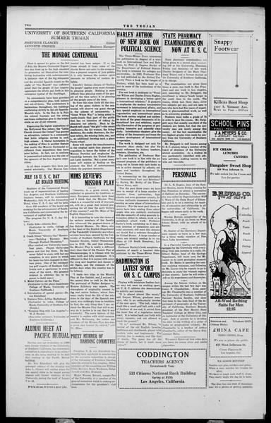 The Southern California Trojan, Vol. 2, No. 3, July 13, 1923