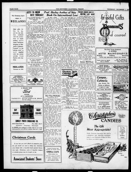 The Southern California Trojan, Vol. 15, No. 29, December 06, 1923