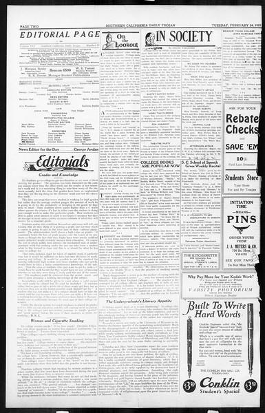 Daily Trojan, Vol. 16, No. 55, February 24, 1925