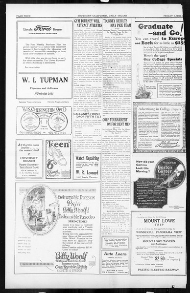 Daily Trojan, Vol. 16, No. 82, April 03, 1925