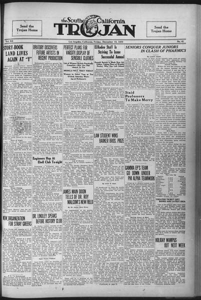 The Southern California Trojan, Vol. 12, No. 41, December 10, 1920