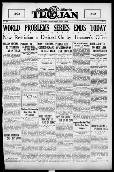 The Southern California Trojan, Vol. 13, No. 33, January 06, 1922