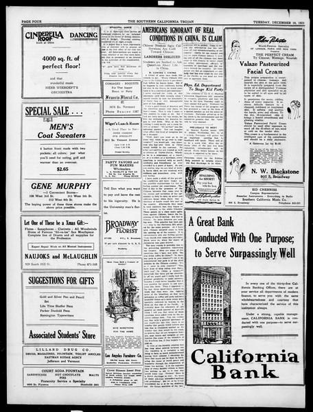 The Southern California Trojan, Vol. 15, No. 31, December 10, 1923