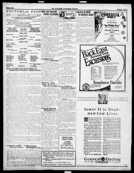 The Southern California Trojan, Vol. 14, No. 98, June 01, 1923