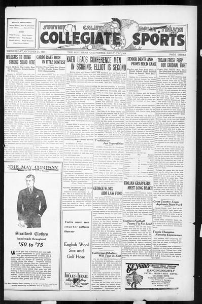 Daily Trojan, Vol. 17, No. 26, October 21, 1925