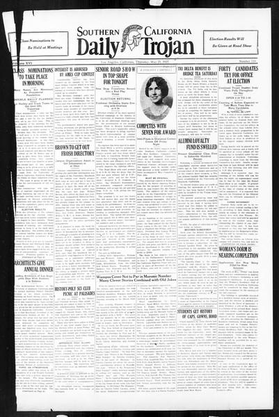 Daily Trojan, Vol. 16, No. 110, May 21, 1925