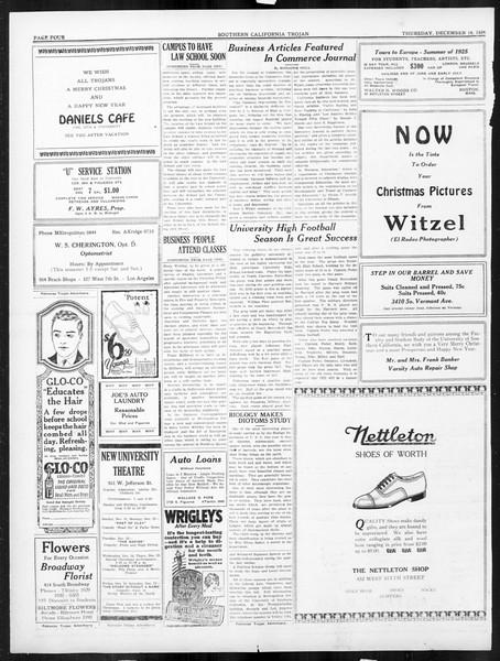 The Southern California Trojan, Vol. 16, No. 34, December 18, 1924