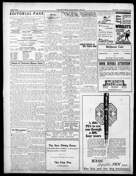 The Southern California Trojan, Vol. 15, No. 7, October 09, 1923