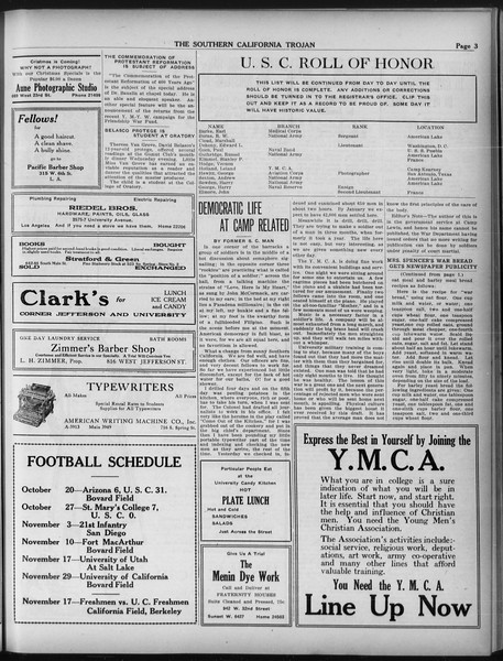 The Southern California Trojan, Vol. 9, No. 13, November 09, 1917