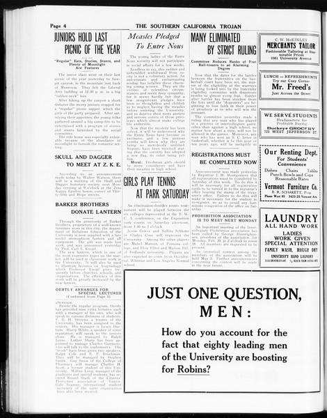 The Southern California Trojan, Vol. 8, No. 69, February 16, 1917