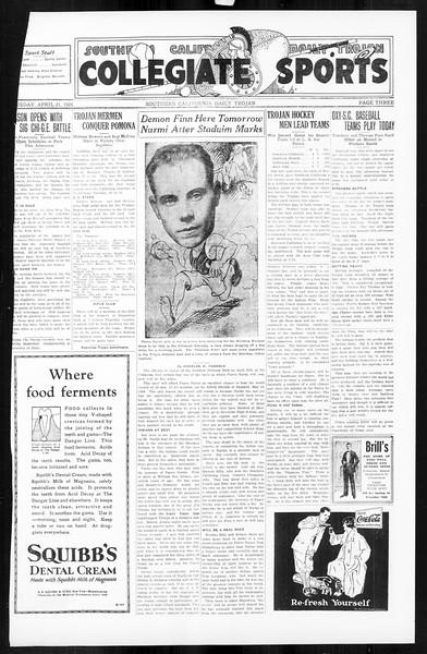 Daily Trojan, Vol. 16, No. 88, April 21, 1925