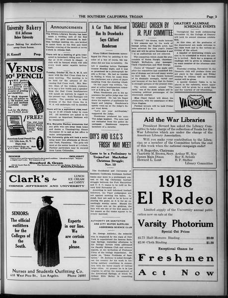 The Southern California Trojan, Vol. 9, No. 7, October 19, 1917