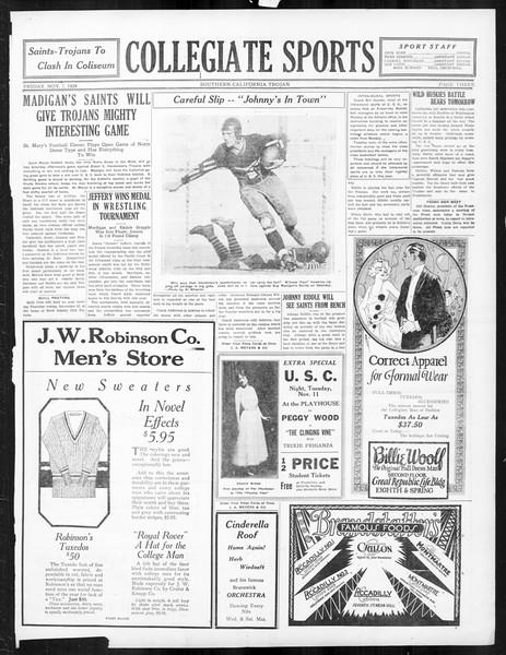 The Southern California Trojan, Vol. 16, No. 20, November 07, 1924