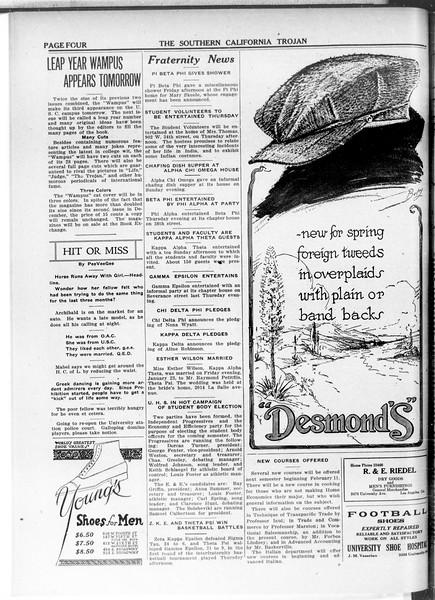 The Southern California Trojan, Vol. 11, No. 49, January 27, 1920