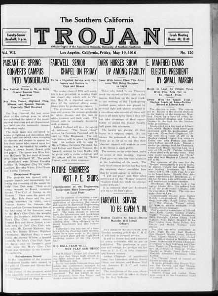 The Southern California Trojan, Vol. 7, No. 120, May 19, 1916