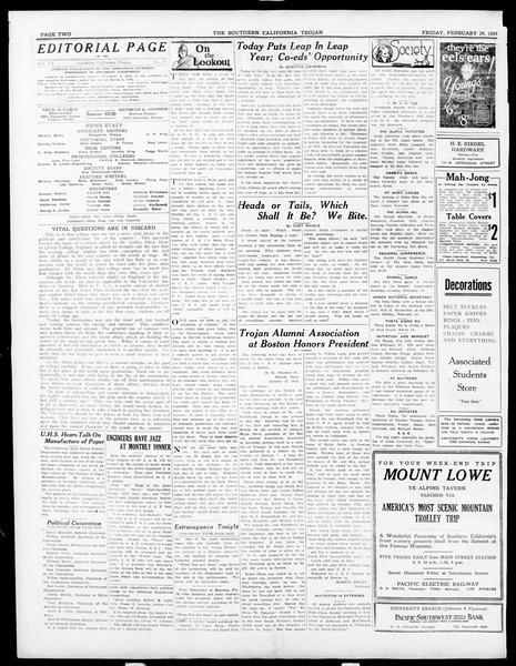 The Southern California Trojan, Vol. 15, No. 56, February 29, 1924