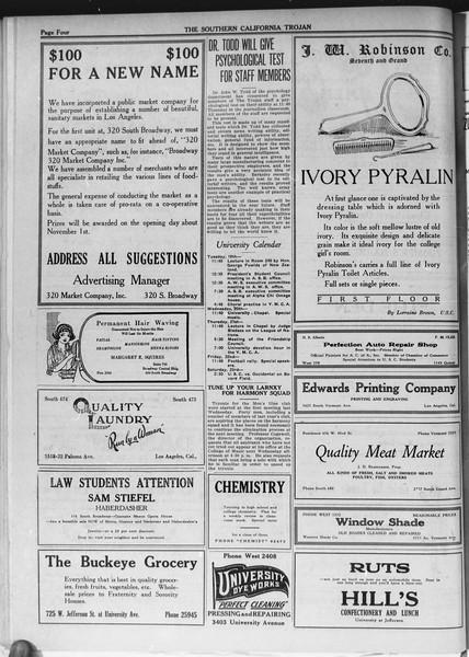 The Southern California Trojan, Vol. 12, No. 14, October 19, 1920