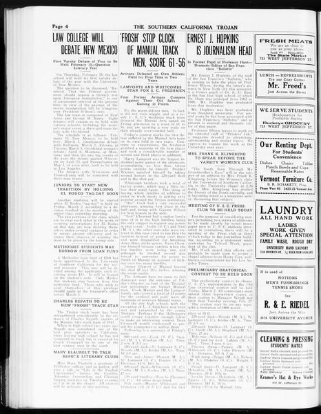 The Southern California Trojan, Vol. 8, No. 66, February 13, 1917