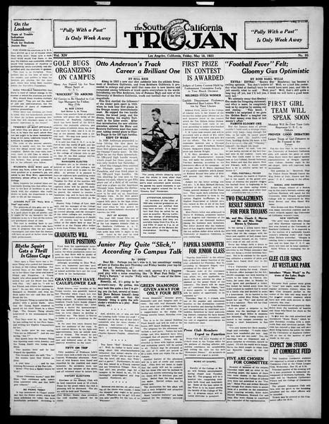 The Southern California Trojan, Vol. 14, No. 93, May 18, 1923