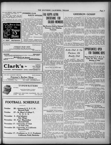 The Southern California Trojan, Vol. 9, No. 12, November 06, 1917