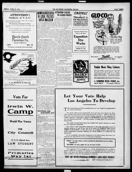 The Southern California Trojan, Vol. 14, No. 84, April 27, 1923