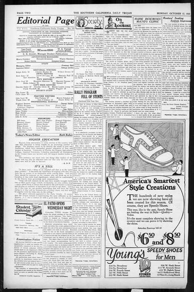 Daily Trojan, Vol. 17, No. 19, October 12, 1925