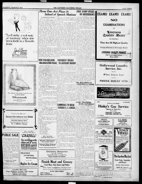 The Southern California Trojan, Vol. 14, No. 71, March 22, 1923