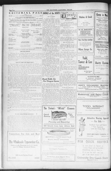 The Southern California Trojan, Vol. 12, No. 31, November 19, 1920
