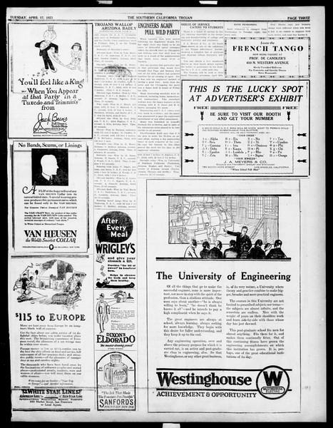 The Southern California Trojan, Vol. 14, No. 79, April 17, 1923