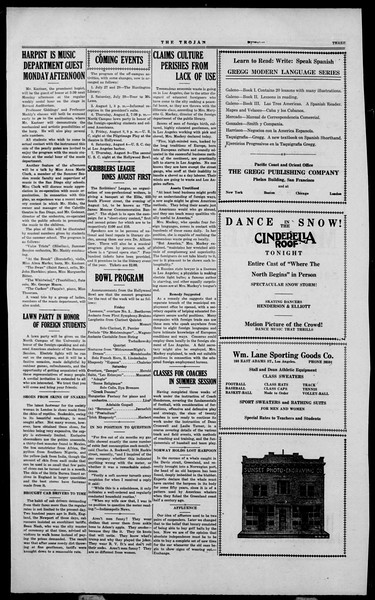 The Southern California Trojan, Vol. 2, No. 7, July 27, 1923