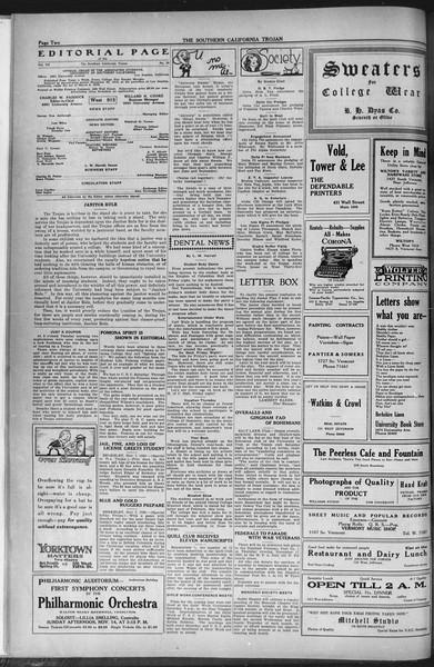The Southern California Trojan, Vol. 12, No. 26, November 10, 1920